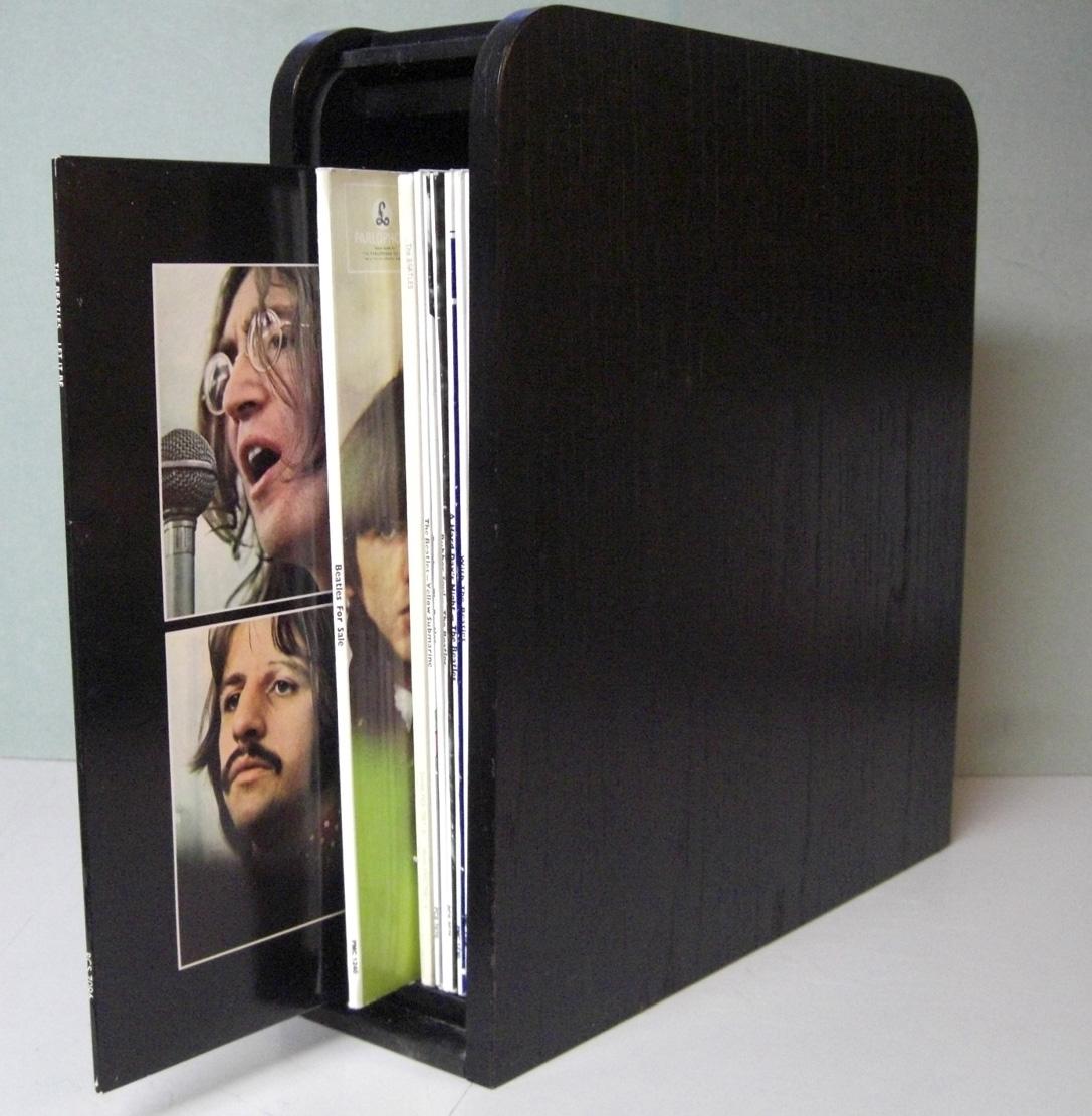 nostalgipalatset beatles limited edition black wood roll top box set 14 lp 1988. Black Bedroom Furniture Sets. Home Design Ideas