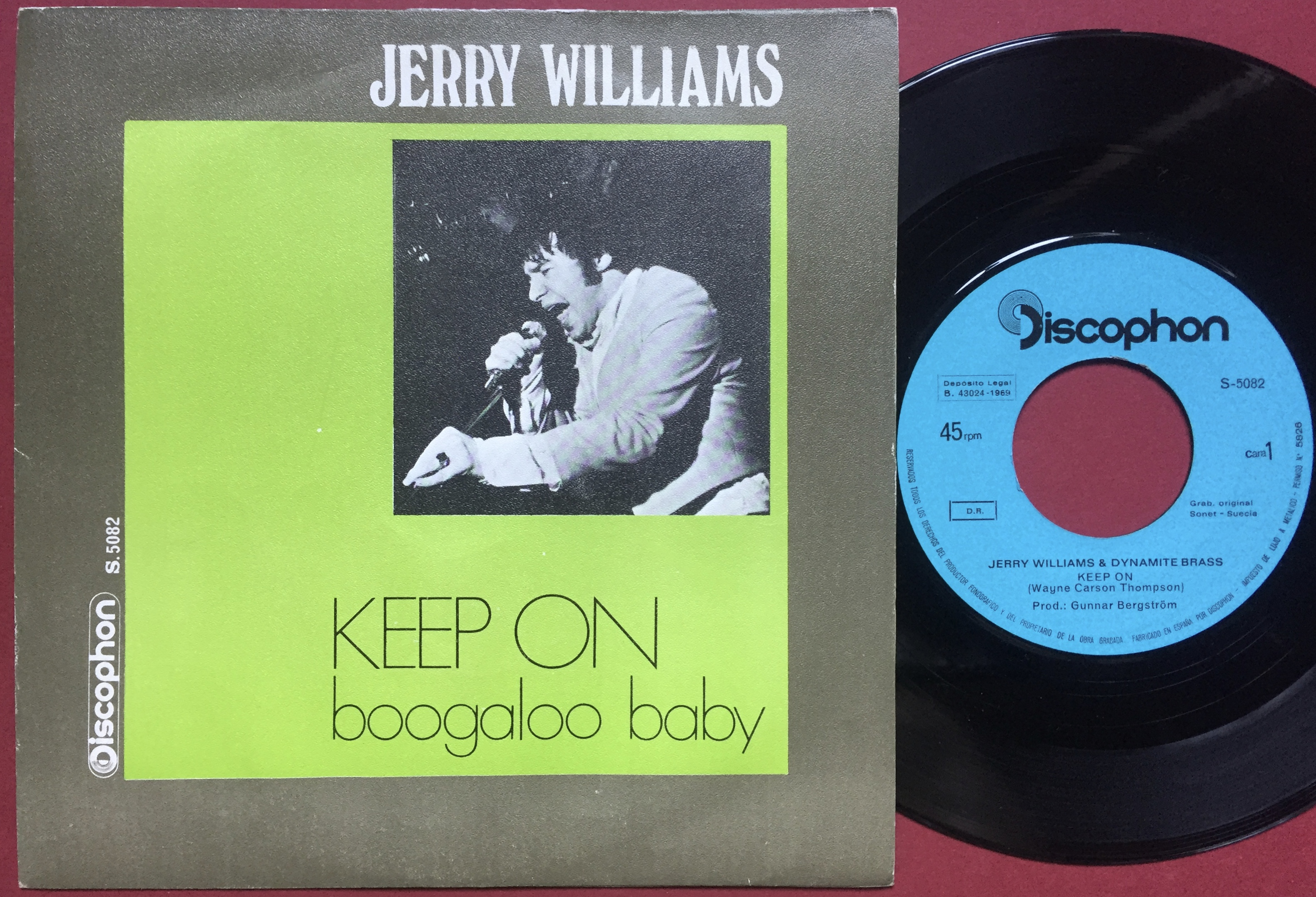 Nostalgipalatset Jerry Williams Keep On Spansk Ps 1968