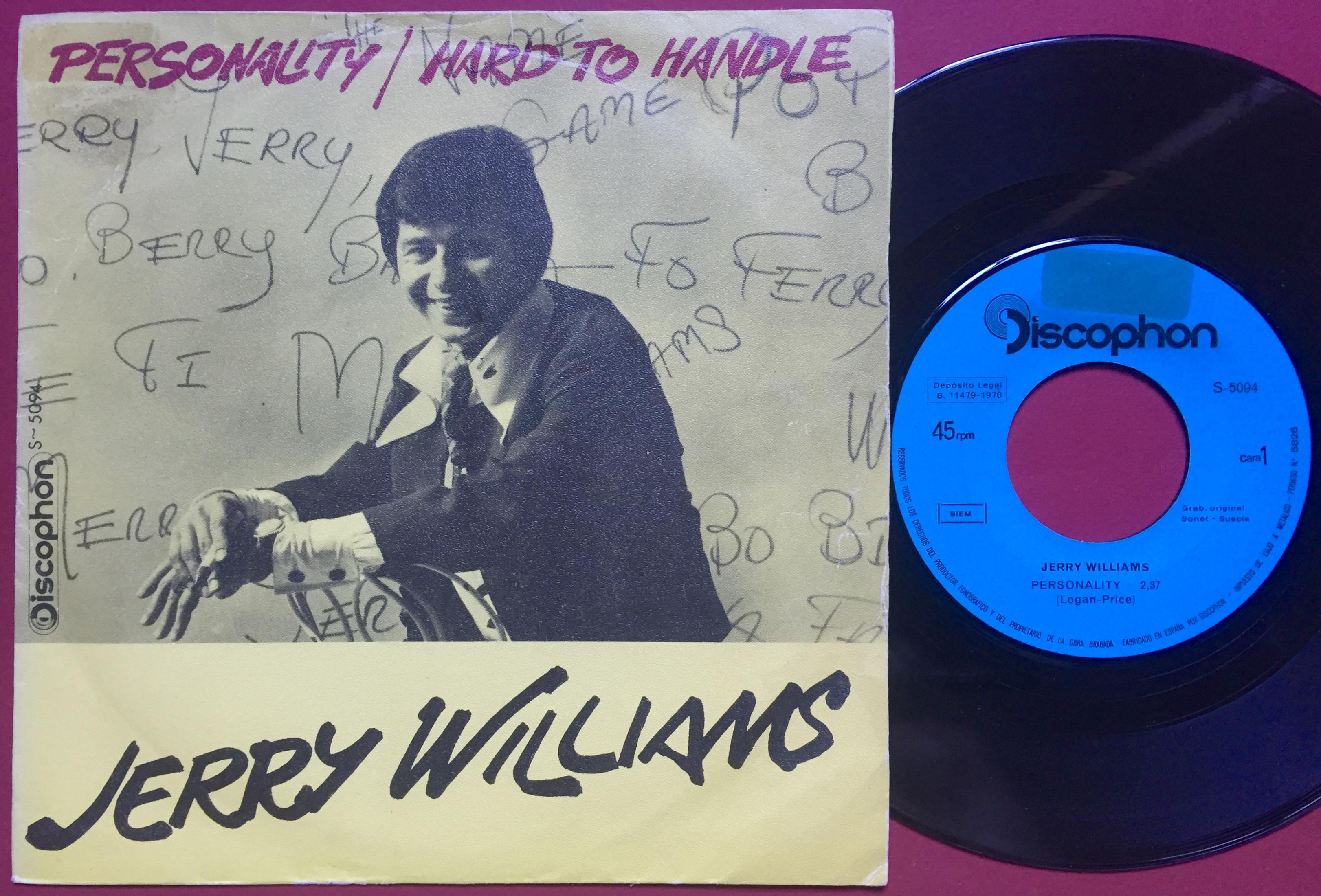 Nostalgipalatset Jerry Williams Personality Spanish