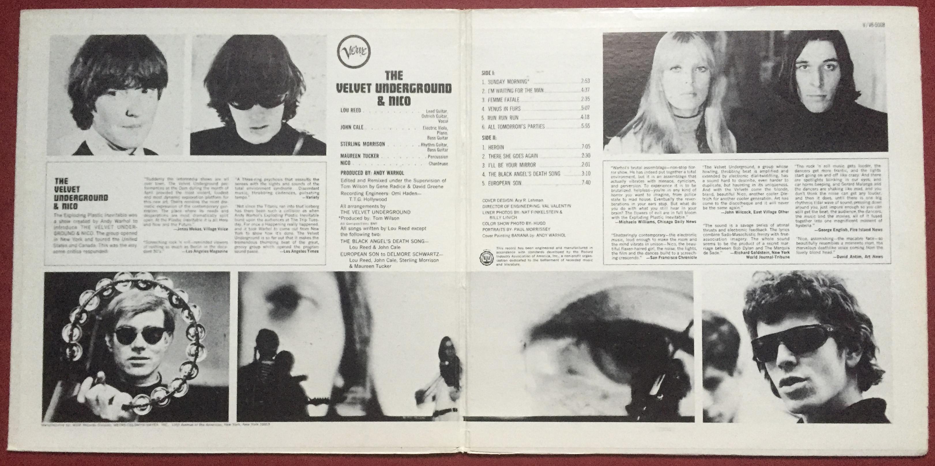 Nostalgipalatset Velvet Underground Amp Nico Andy Warhol
