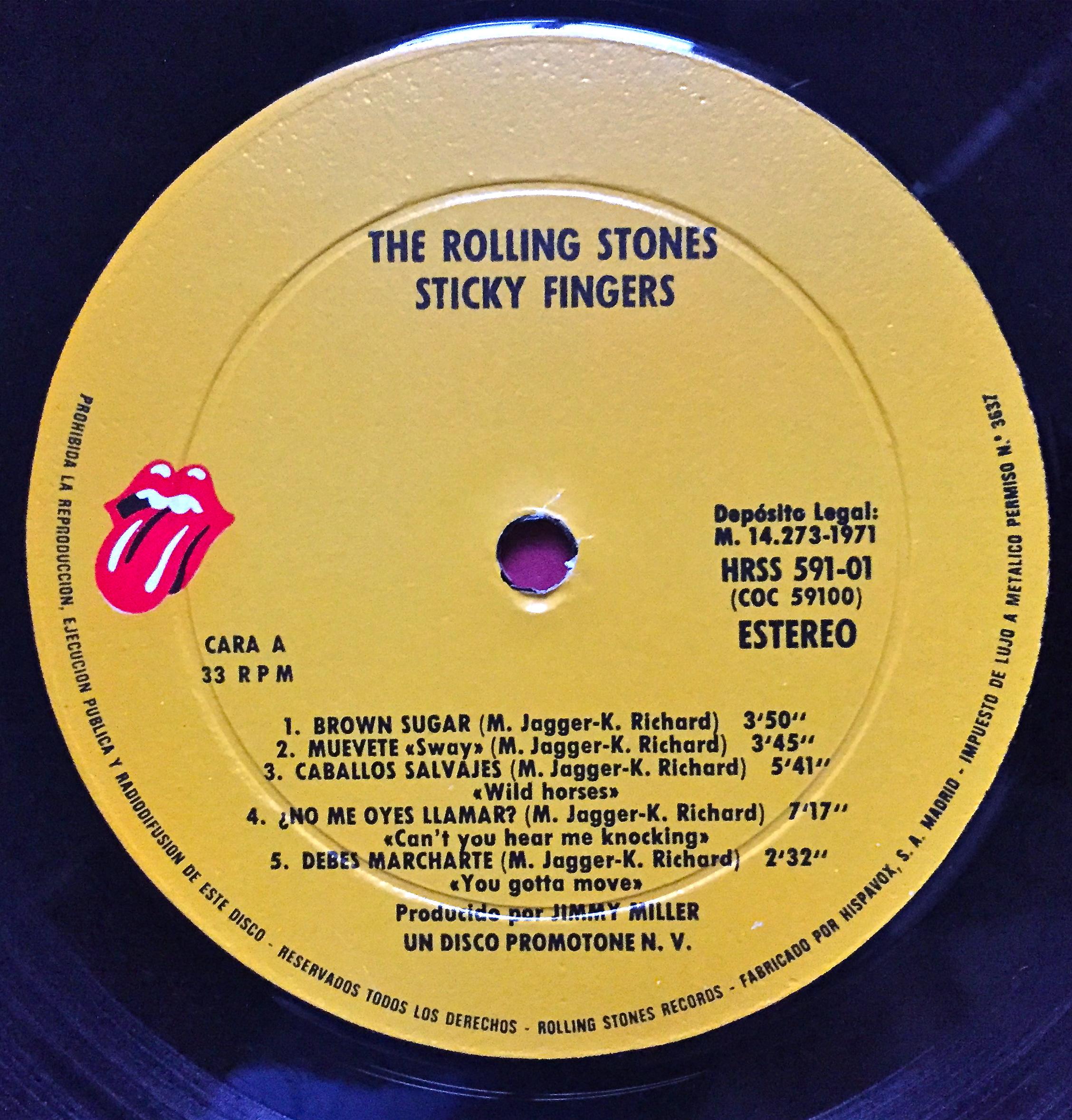 Nostalgipalatset Rolling Stones Sticky Fingers Spanish