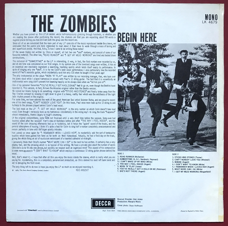 Nostalgipalatset Zombies Begin Here Uk Orig Lp 1965