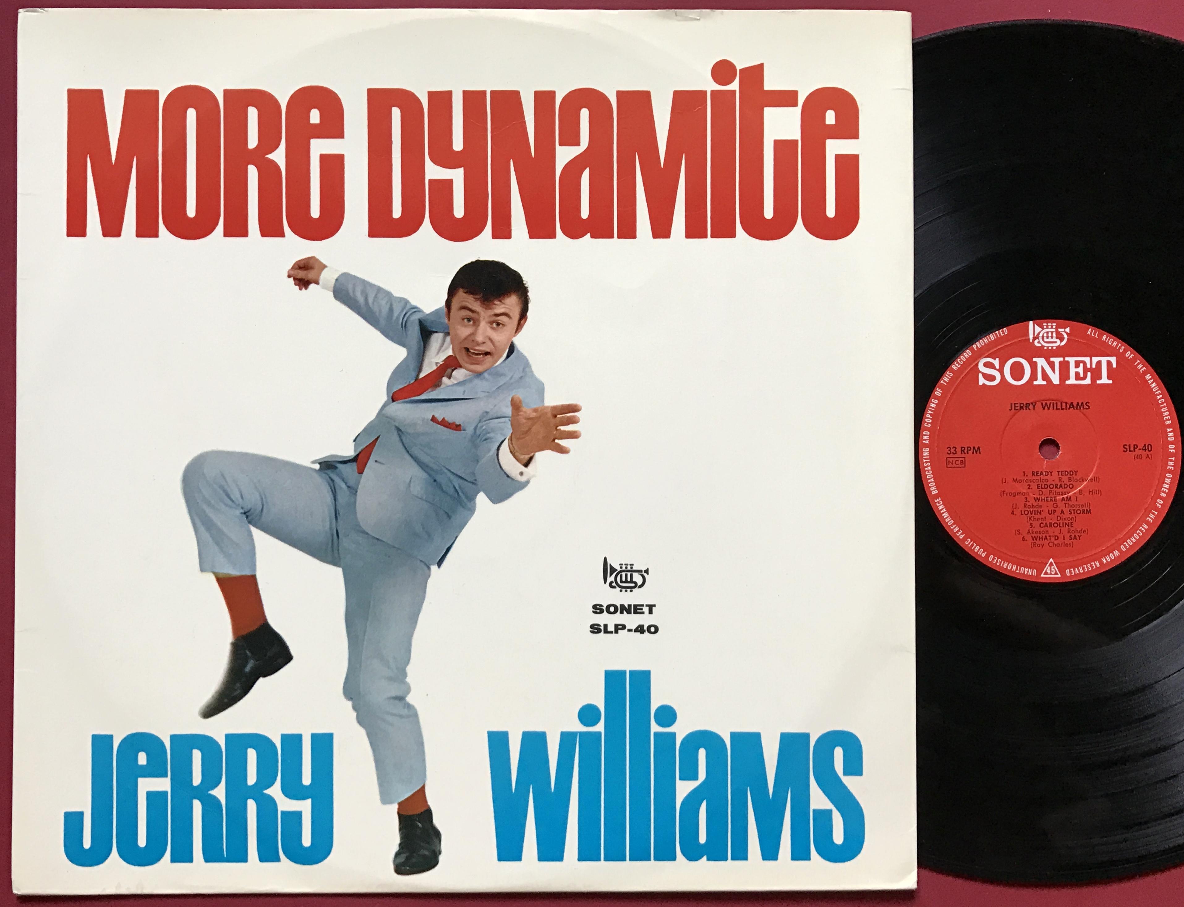 Nostalgipalatset Jerry Williams More Dynamite Swe Lp 1964