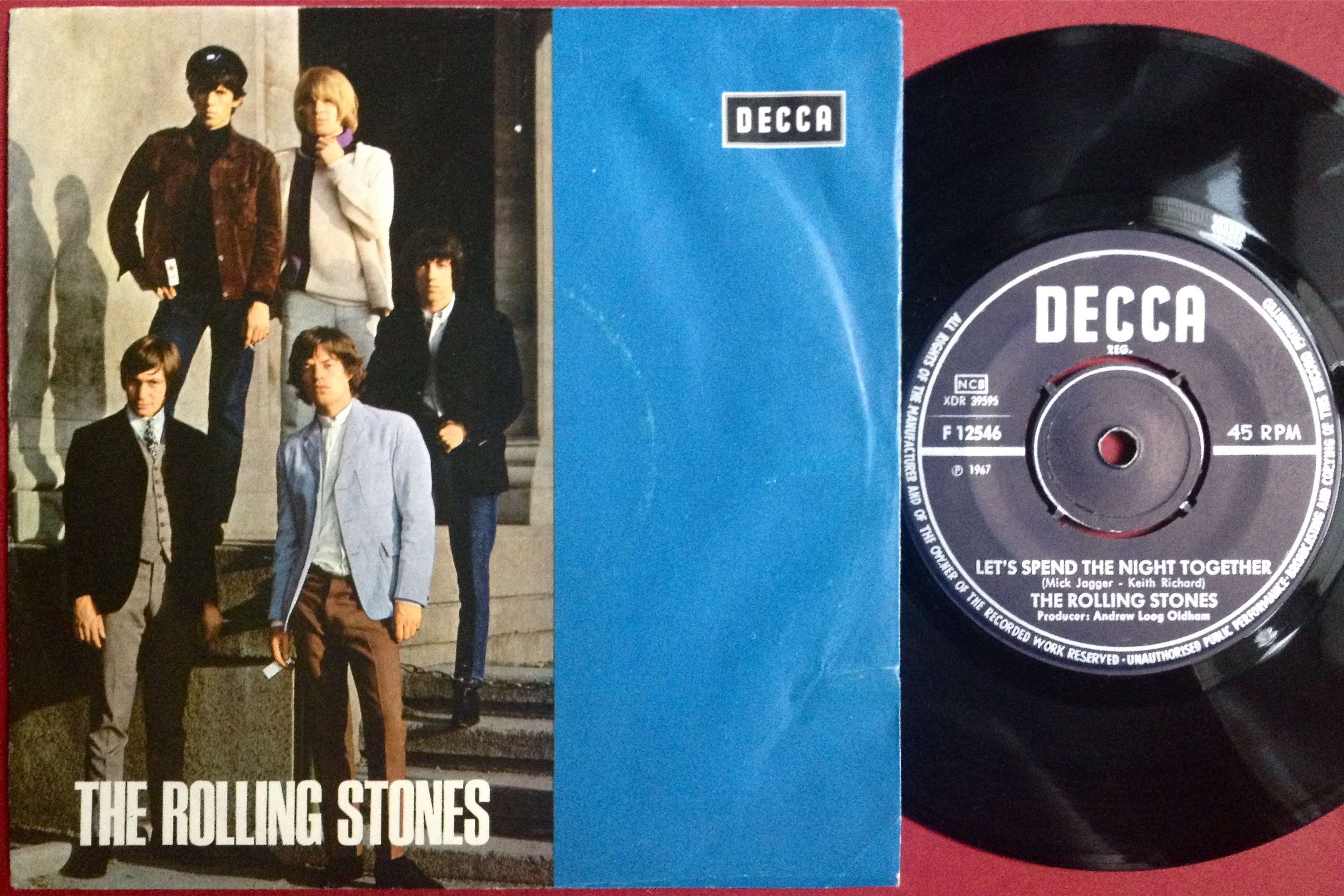 ROLLING STONES - Let´s spend the night together NO title Swe PS 1967