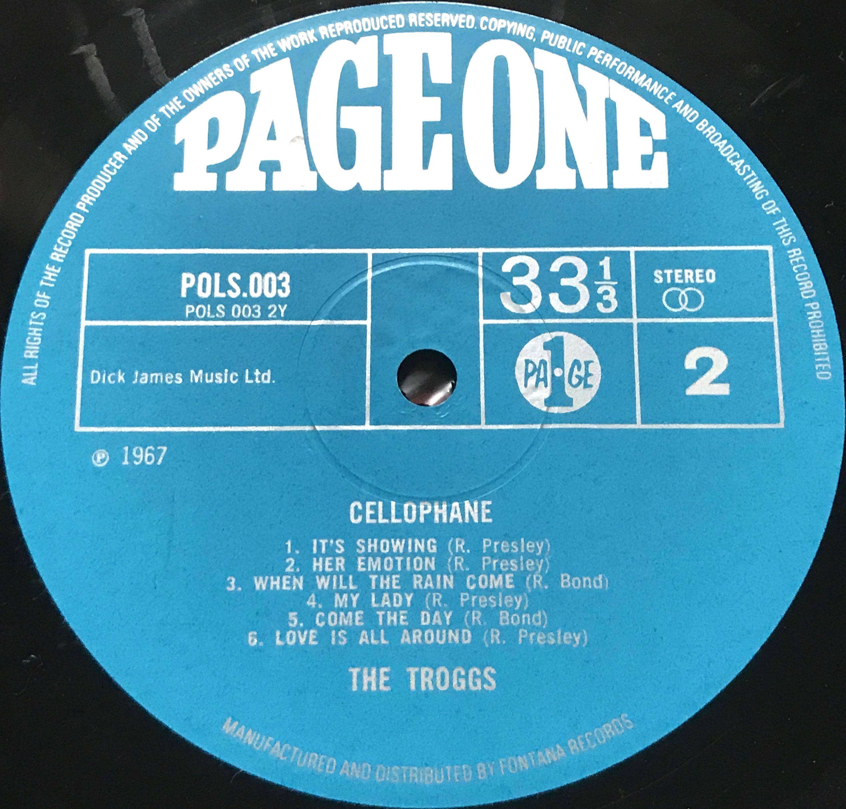 Nostalgipalatset Troggs Cellophane Uk Orig Lp 1967