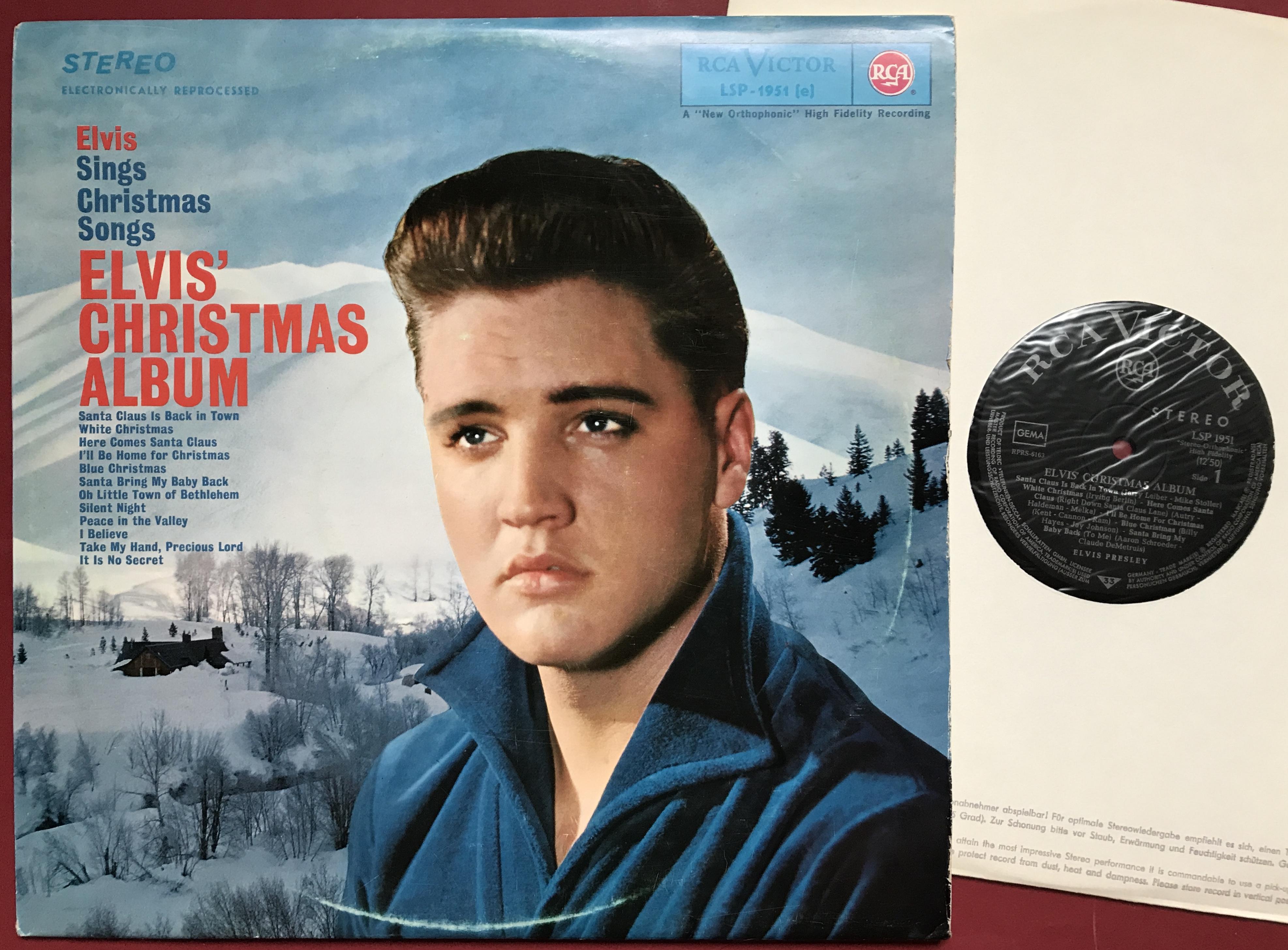 Elvis Christmas Album.Elvis Presley Elvis Christmas Album Ger Orig Lp 1964