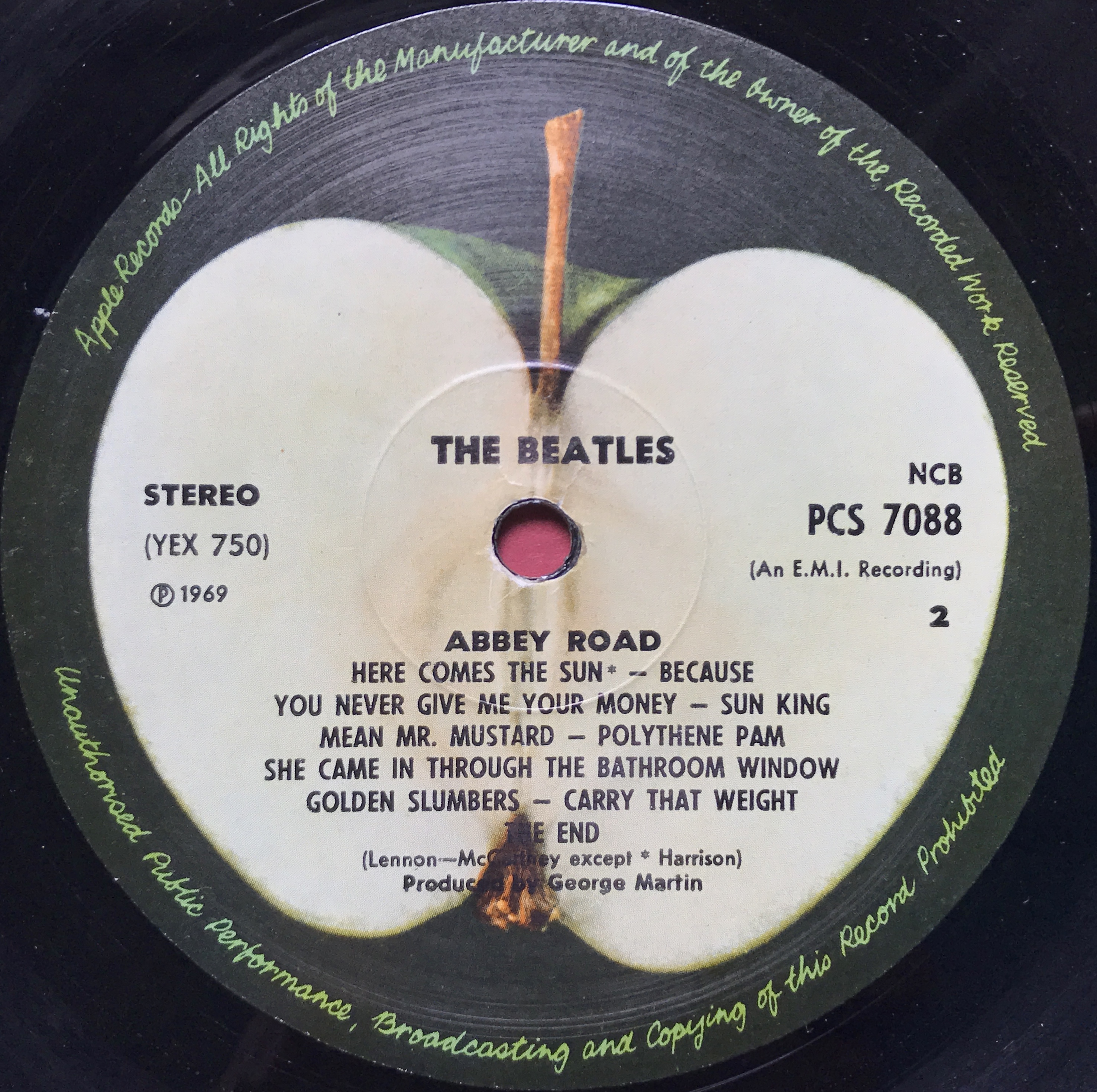 Polythene pam she came in through the bathroom window -  Beatles Abbey Road Norway Orig Lp 1969