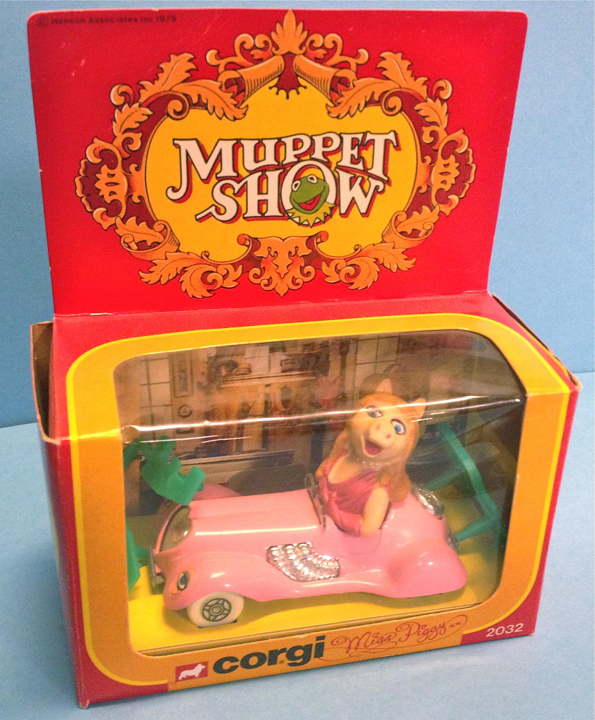 THE MUPPET SHOW - Miss Piggy Corgi toys car 1970´s in BOX