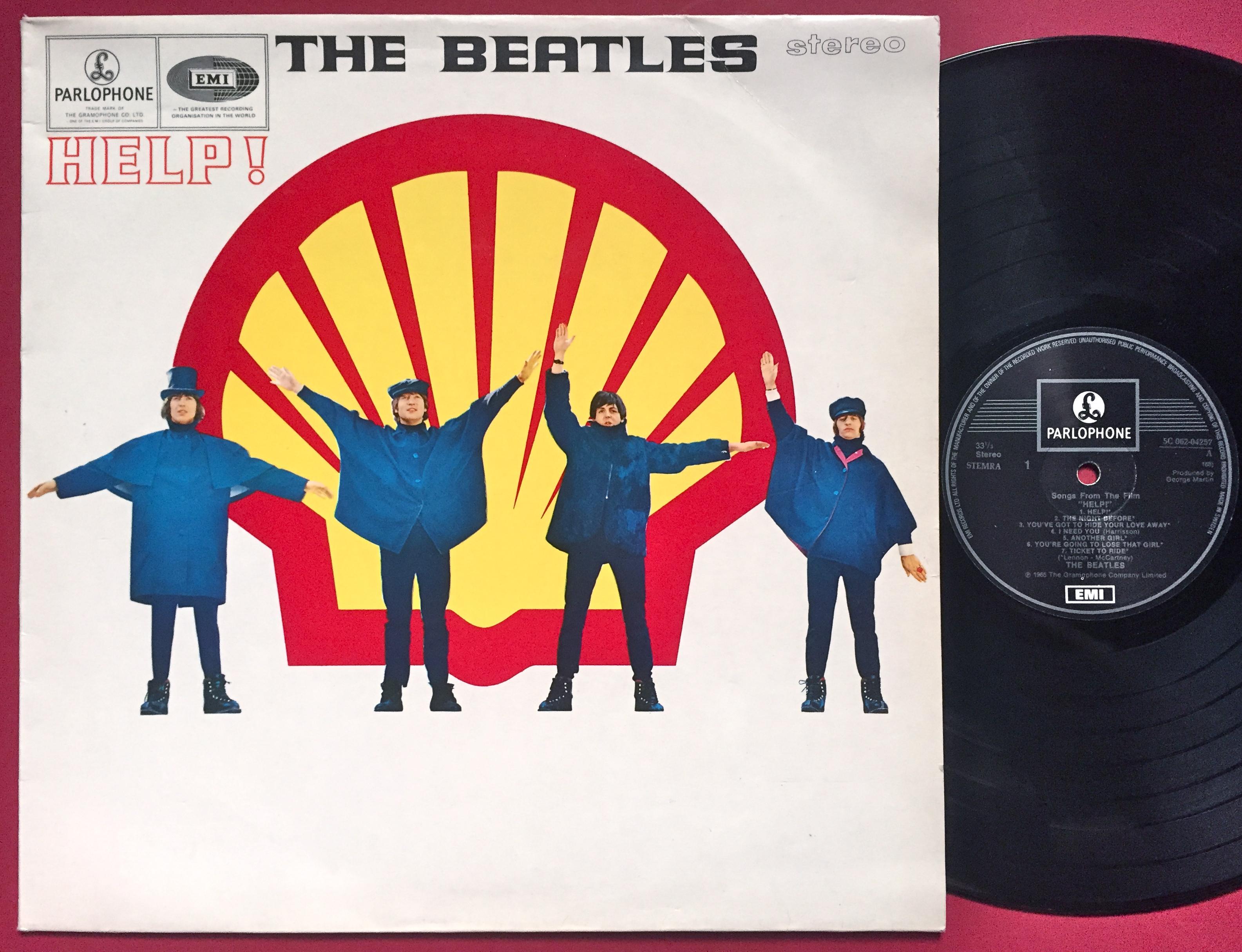 BEATLES - Help! SHELL-cover Holland/Swe-orig LP 1979