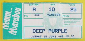 DEEP PURPLE - Stockholm 1985 - 2nd night