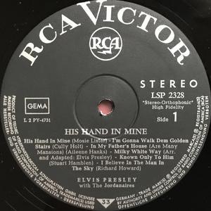 ELVIS PRESLEY - His hand in mine Tysk LP 1960
