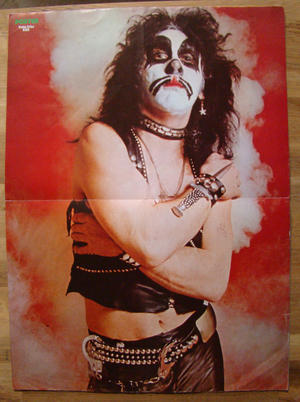 TIDNINGEN POSTER - No 1 1976 Kiss (Peter Criss), Queen mfl.