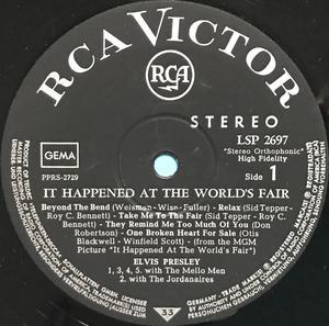 ELVIS PRESLEY - It happened at the world´s fair German LP 1963