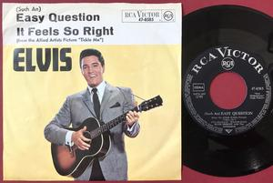 "ELVIS PRESLEY - Easy question 7"" Ger ""Devil"" PS 1965"