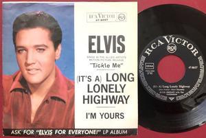 "ELVIS PRESLEY - Long lonely highway 7"" Ger PS 1965"