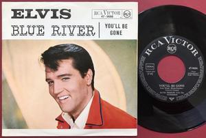 """ELVIS PRESLEY - Blue river 7"""" Ger PS 1965"""