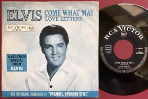 "ELVIS PRESLEY - Come what may 7"" Ger PS 1966"