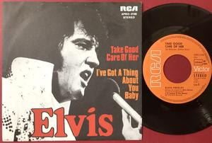 """ELVIS PRESLEY - Take Good Care Of Her 7"""" Ger PS 1974"""