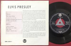 ELVIS PRESLEY - vol 1 - Blue suede shoes +3 Tysk EP 1956 SYDDA kanter