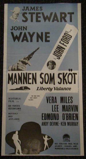 THE MAN WHO SHOT LIBERTY VALANCE  (JAMES STEWART, JOHN WAYNE)