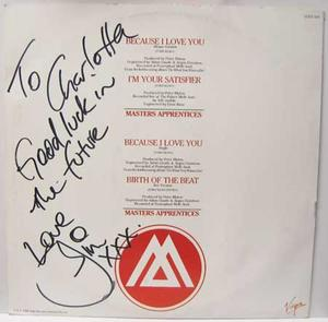 "Keays, Jim - Because I Love You / 12"" SIGNED!"