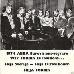 ABBA / FORBES foto: 1977.  Mycket ovanligt!
