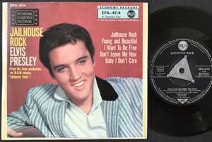 ELVIS PRESLEY - Jailhouse rock + 4 Tysk EP Silvertri + linjer 1957