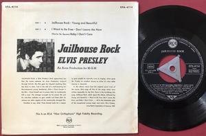 ELVIS PRESLEY - Jailhouse rock + 4 Tysk EP Silvertri 1957