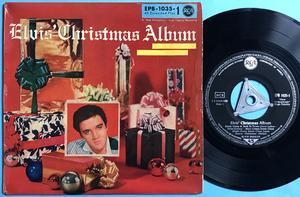ELVIS PRESLEY - Christmas album - vol 1 Tysk EP Silvertri 1958