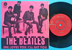 "BEATLES - She loves you 7"" PINK Swe PS 1963"