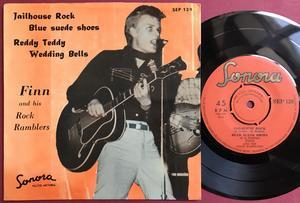 FINN & His ROCK RAMBLERS - Jailhouse rock +3 Swe EP 1958