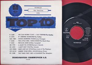 "BEATLES - Michelle 7"" TOPLIST Swe PS 1966 M-!"