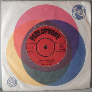 "BEATLES - And I love her / I should have...  7"" Finland -64"