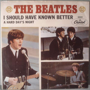 """BEATLES - A hard day´s night  7"""" USA 1964 PS"""
