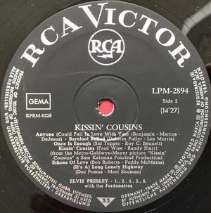 ELVIS PRESLEY - Kissin´ cousins German-orig LP 1964