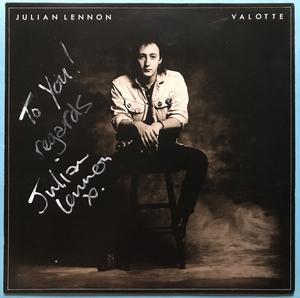 JULIAN LENNON - Valotte SIGNED UK-orig LP 1984