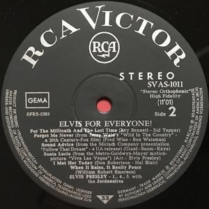 ELVIS PRESLEY - Elvis for everyone! German-orig LP 1965