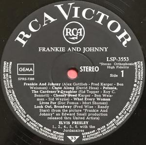 ELVIS PRESLEY - Frankie and Johnny Tysk-orig LP 1966