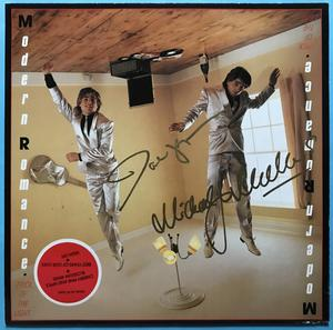 MODERN ROMANCE - Trick of the light SIGNED LP 1983