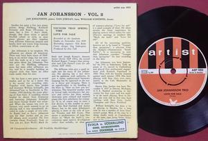JAN JOHANSSON TRIO - Vol 2 Swe EP 1964