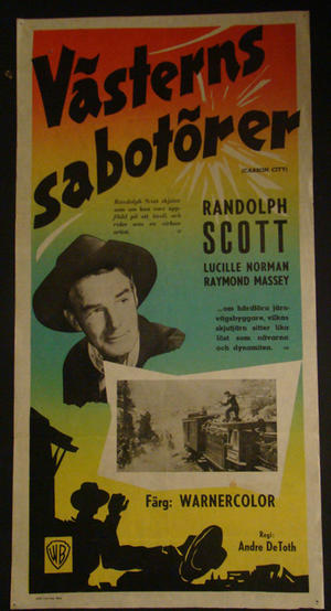 CARSON CITY (RANDOLPH SCOTT, LUCILLE NORMAN, RAYMOND MASSEY)