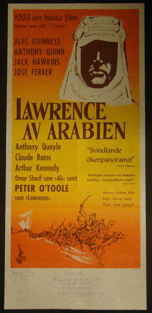 LAWRENCE AV ARABIEN (PETER O´TOOLE, ALEC GUINNESS, ANTHONY QUINN)