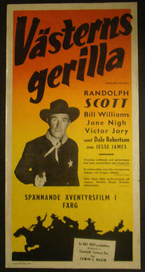 VÄSTERNS GERILLA (RANDOLPH SCOTT, BILL WILLIAMS,J ANE NIGH, VICTOR JORY)