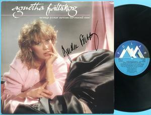 AGNETHA FÄLTSKOG - Wrap your arms around me Swe-orig SIGNERAD LP 1983