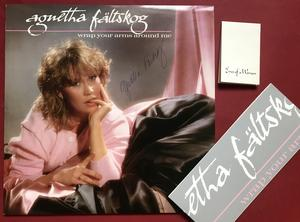 AGNETHA FÄLTSKOG - Wrap your arms around me Swe-orig SIGNERAD LP + klistermärke 1983