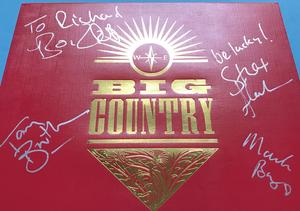 BIG COUNTRY - The crossing SIGNERAD LP 1983
