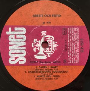 "ARBETE & FRITID - ""same"" Swe-orig LP 1970"