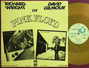 "PINK FLOYD - RICHARD WRIGHT & DAVID GILMOUR - Drop in from the top Fra-orig PROMO Gul vinyl 12"" 1978"