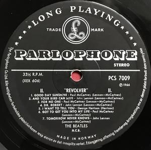 BEATLES - Revolver NORSK-orig Stereo LP 1966