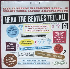 BEATLES - Hear the Beatles tell all US-orig LP 1965 OÖPPNAD!